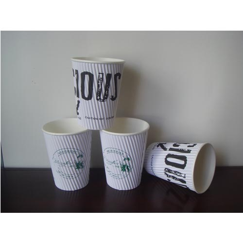 Double wall paper cup sleeve machine